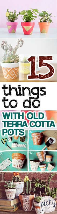 Terra Cotta Pots, Decorating With Terra Cotta Pots, Things to Do With Terra Cotta Pots, Terra Cotta Pot Crafts, Craft Ideas, Crafting Tips and Tricks, Container Gardening, Gardening Projects, DIY Gardening Projects, Popular Pin