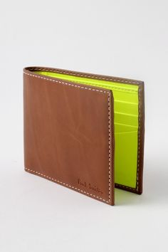 Fancy - Paul Smith Neon Interior Billfold Wallet Yellow