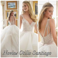 Novias Otilio Santiago Wedding dresses 2017 Ivory/blush