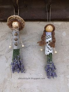 Dittis Dolgok: Levendula páros :) Lavender Crafts, Dried Lavender Flowers, Lavender Bags, Fun Crafts For Kids, Diy Arts And Crafts, Hobbies And Crafts, Diy Crafts, Garden Workshops, Gift Wraping