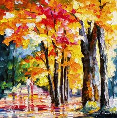 "Love Colors — PALETTE KNIFE Oil Painting On Canvas By Leonid Afremov - Size: 24"" x 24"" (60 cm x 60 c"