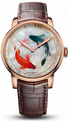 Arnold & Son HM Koi Unique Piece The Métiers dArt HM Koi Unique Piece from Arnold & Son will appeal to watch connoisse Arts And Crafts For Adults, Arts And Crafts House, Easy Arts And Crafts, Stylish Watches, Cool Watches, Watches For Men, Unique Watches, Patek Philippe, Devon
