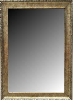 Espejo biselado estilo moderno con marco en madera modelo for Espejo a medida precio