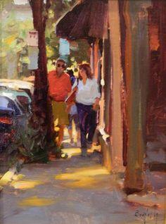 Artwork of Oil Painter Kim English Painting People, Figure Painting, Urban Landscape, Landscape Art, Portrait Art, Portraits, Kim English, Watercolor Architecture, Value In Art