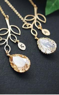 personalized bridesmaid necklaces