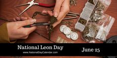 National Leon Day June 25 Strawberry Parfait, National Day Calendar, National Holidays, National Days, Handcrafted Jewelry, Handmade, Metal Crafts, Jewelry Crafts, Jewelry Box