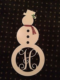 Unfinished-Wood-Snowman-Monogram-Door-Hanger-Laser-Cutout-with-Your-Initial