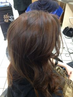 Brown hair with auburn highlights- love my stylist!