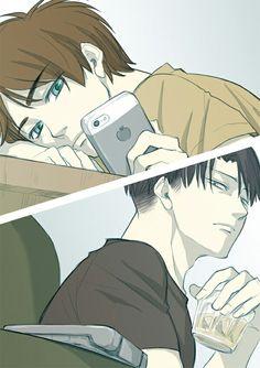 Levi and Eren. Ahhhh I love them