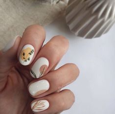 Subtle Nail Art, Neutral Nail Art, Neutral Nail Designs, Classy Nail Designs, Trendy Nail Art, Simple Nail Art Designs, Best Nail Art Designs, Short Nail Designs, Fall Nail Designs