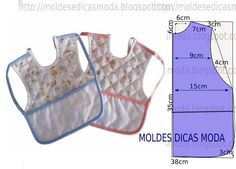 Baby bib- Diy idea how to make tutorial sew pattern Baby Sewing Projects, Sewing For Kids, Baby Clothes Patterns, Sewing Patterns, Baby Knitting, Crochet Baby, Bib Pattern, Baby Crafts, Baby Accessories