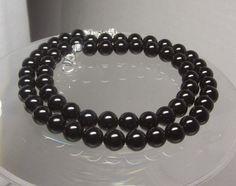 Black Onyx Beaded Necklace 8mm Round Beads Select Your Length http://etsy.me/1PcraAu via @Etsy #blacknecklace #onyxjewelry #onyx #bling #black #blackjewelry #onyxnecklace