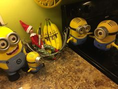 elf on the shelf ideas, Creative & unique elf ideas, minion banana's - check out her other ideas!