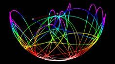 Double Pendulum Chaos Light Writing (computer simulation) 2