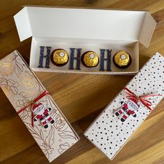 I made these cute little boxes to hold 3 Chocolates. The perfect 'little something' gift to say thank you at Christmas. And a good project for using up some retired DSP (Designer Series Paper) Little Boxes, Fun Projects, Chocolates, Stampin Up, Greeting Cards, Holiday Decor, Paper, Handmade Gifts, Christmas