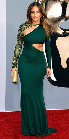 Only Jennifer Lopez can wear a dress like this and make it look like a beautiful piece of architecture!