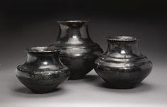 THREE SANTA CLARA BLACKWARE WATER JARS | lot | Sotheby's