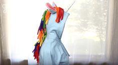 A simple DIY Unicorn Hoodie Costume.....a great last minute costume tutorial!