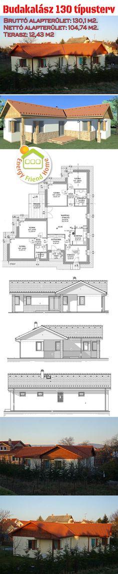 A Budakalász 130 m2típustervünk egy 4 hálószobás, amerikai konyhás, kertkapcsolatos családi ház. A családi ház bruttó alapterülete mindössze 130 m2, de 3-4 gyermekes családoknak kínál kényelmes ot…