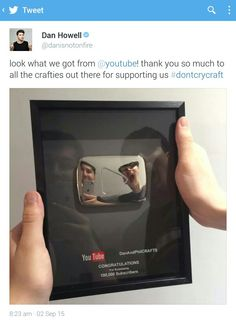 Haha their plaque for their craft channel