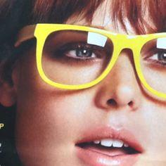 Bright yellow glasses!