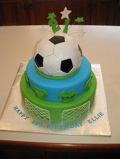 Ellie's 21st birthday soccer ball cake | This is my first at… | Flickr