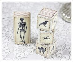 Inspired by Stamping, A Spooky Halloween stamp set, A Spooky Halloween Printables & Paper, Halloween Decorations, Halloween blocks