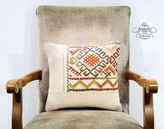 Embroidered Nomad Art  Decorative White Sofa by AnatoliaCollection