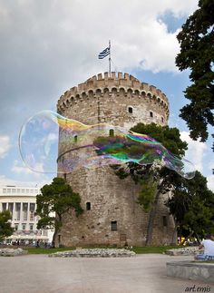 The White Tower in Thessaloniki, Macedonia, Greece - built in 12 century Greek Castle, Macedonia Greece, Across The Universe, Paradise On Earth, Thessaloniki, 12th Century, Travelogue, Wonderful Places, Malta