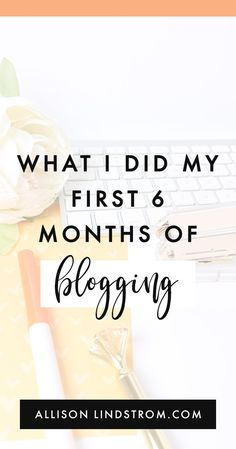 You guys already know that blogging is my profession. This is my full-time career, and I've been doing it for a couple of years. I would say that I probably have a good handle on running a blogging business at this point. And looking back at how I started my blog, I can see a few key things that I did within the first six months that set me up for success. #blogging #blogtips #bloggingtips #howtoblog #workfromhome #workathome #blogger #wahm #makemoneyblogging