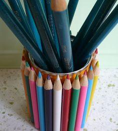 DIY Pencil tin