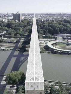 Infrastructure Architecture, Water Architecture, Urban Mapping, Architectural Engineering, Archi Design, Bridge Design, Pedestrian Bridge, Future City, Urban Planning