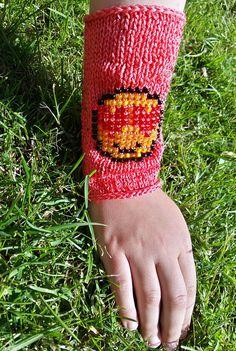 emoji bracelet, statement bracelet, knitted bracelet, bead bracelet, crochet bracelet, handmade bracelet, teen bracelet, boho bracelet