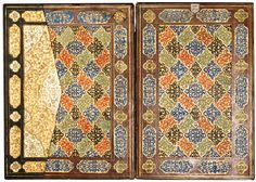 A fine gilded binding and flap SAFAVID PERSIA, 16TH CENTURY