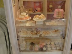 Kim Saulter's Shabby Chic bakery display case.