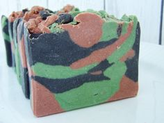Camouflage Bourbon Vanilla Scented Goat's Milk Soap for my Bettie friends!