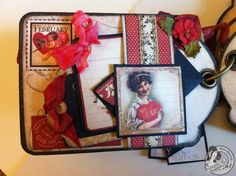 One of the many amazing tags in @Clare Charvill's Valentine's Tag Album using Place in Time! Click to see more photos! #graphic45 #minialbums