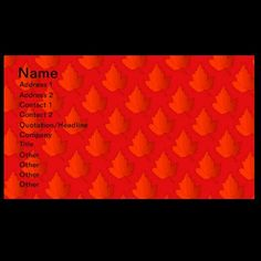 Orange Maple Leaves Business Card by janislil
