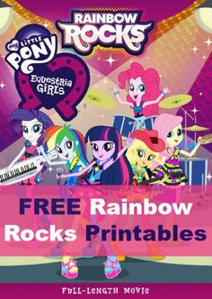 The Equestria Girls are back in a full length movie - Rainbow Rocks - and we have some great colouring sheets for you to download for free...any why not?