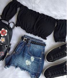 Moda juvenil verano ropa de trendy Ideas - Lilly is Love Teenager Outfits, Outfits For Teens, Trendy Outfits, Girl Outfits, Fashion Outfits, Fashion Trends, Mode Rockabilly, Teen Fashion, Womens Fashion