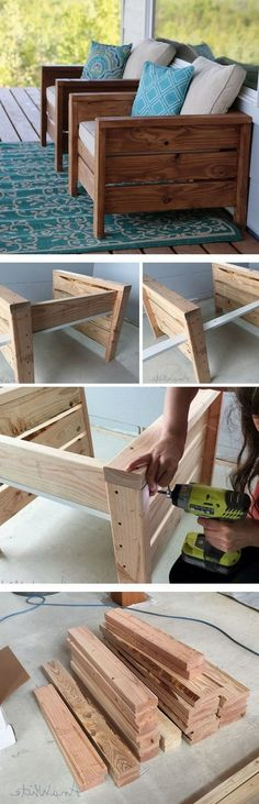 Check out the tutorial how to make DIY wooden modern chairs for home decor DIY H. Check out the tutorial how to make DIY wooden modern chairs for home decor DIY Home Decor Ideas - Industry Standard Woodworking Projects Diy, Pallet Projects, Home Projects, Woodworking Plans, Diy Pallet, Woodworking Skills, Learn Woodworking, Pallet Ideas, Woodworking Magazine