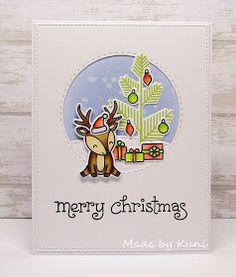 Merry Christmas by Kuni Merry Christmas, Christmas In July, Christmas 2017, Christmas Trees, Christmas Decor, Holiday Cards, Christmas Cards, Christmas Things, Christmas Challenge