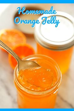 Homemade Orange Jelly Orange Jelly Recipe – A bright burst of sunshine in a jar! Step-by-step instructions in this easy recipe. This jelly is hundred times better than storebought. If you like marmalade – you'll love this jam! Jelly Recipes, Jam Recipes, Canning Recipes, Satsuma Recipes, Canning Tips, Drink Recipes, Chutney, Cooking Jam, Orange Jam
