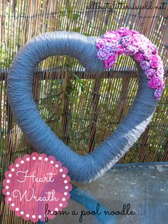 Heart wreath with fabric wreath | All That Glitters