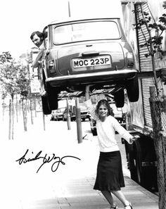 Lindsay Wagner lifts a Mini Austin Cooper in 'The Bionic Woman', ca. 1976-78. S)