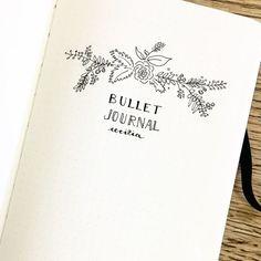 organization || How to Start a Bullet Journal: Setting up for 2017 – Mistral Spirit Bullet Journal Rentrée, Bullet Journal Front Page, Bullet Journal Dividers, Bullet Journal Spreads, Bullet Journal Headers, Creating A Bullet Journal, Bullet Journal Cover Ideas, Bullet Journal Aesthetic, Bullet Journal Themes