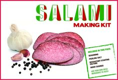 Home Italian Salami Sausage Making Pack consisting of Parmanello Seasoning, 2 casings, Curing Salt, Bessastart culture, and full recipe instructions. Sufficient to make 2 Kilos with added meat. Ideal for the beginner with their own manual or electric mincer with a sausage stuffer attachment. A boxed set to make a unique gift! *** Click on the image for additional details.