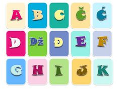 Zlatna djeca: Abeceda karte Name Activities, Letter Recognition, Lettering, Games, Logos, Kids, Cards, Young Children, Boys