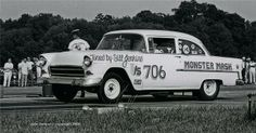 55 Chevy tuned by Bill Jenkins.  The Monster Mash.