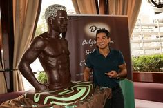 Chocolate bust of Mario Lopez, where do I start??? Mmm....